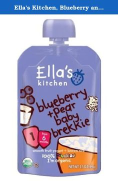 Ella's Kitchen, Blueberry and Pear Baby Brekkie, 3.5 Ounce (Pack of 7). We know that breakfast is the most important meal of the day, so we created deeelicious Baby Brekkie just for your little one, in yummy blueberry + pear, raisin + prune, banana and mango flavors.