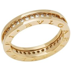 Bulgari 18 Karat Yellow Gold Round Cut Diamond B. Yellow Gold Rings, White Gold Diamonds, Round Cut Diamond, Diamond Cuts, Bulgari Jewelry, Jewellery, Luxury Jewelry, Jewelry Rings, Cartier Love Ring