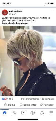Edgy Short Hair, Short Hair With Layers, Cute Hairstyles For Short Hair, Short Curly Hair, Short Hair Cuts, Curly Hair Styles, Modern Short Hair, Good Hair Day, Great Hair