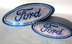 Crystal FORD Car Bling Oval Emblem with Swarovski crystals Ford Fusion Accessories, Ford Explorer Accessories, Car Accessories For Girls, Truck Accessories, Ford Ecosport, Car Ford, Ford Trucks, Ford Mustang, Ford Emblem
