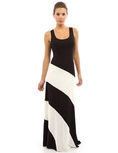 Women\'s Racerback Striped Maxi Dress