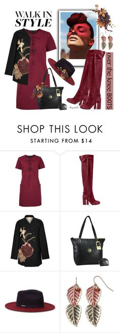 """""""Fall Footwear: Over-The-Knee Boots"""" by ragnh-mjos ❤ liked on Polyvore featuring Kendall + Kylie, Aquazzura, Valentino and Ted Baker"""
