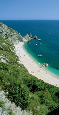 Due Sorelle (Two Sisters) Beach on central Italy's Conero Riviera.