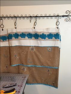 Curtains I made for my friends horse trailer living quarters. The picture is of…