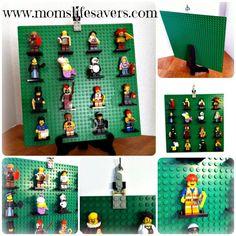 LEGO Mini Figure Display � DIY | http://www.momslifesavers.com/lego-mini-figure-display-diy/