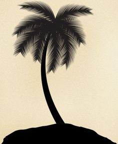 Tattoo design of a single palm tree