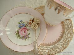Beautiful Vintage MisMatched Tea Set for by AlicesChinaCupboard