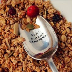 Good Morning Handsome spoon. Cute gift for Christmas this year!