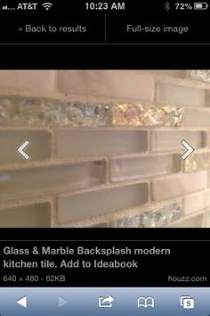 Backsplash - ahh Kylee and I just found this at Lowe's!