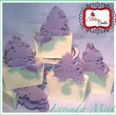 Lavender Mint Essential Oils Cold Process by SweetloveCandles, $7.99