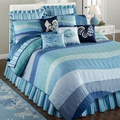 ropa de cama tonos marinos