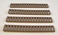 Heat Resistant 18 Slot 7 Inch Rail Ladder Covers (Pack Of 4) - Tan Dark Earth Color
