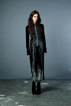 Black Bones Long Sleeve Dress by Drawn In Light