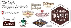 The eight Trappist beers worldwide AD 2011 - alle others are abbey beers, wether or not linked to a (former) Cistercian abbey.