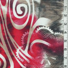 Red Multi Print Lawn  Thinking about making this into a bag what do you think???