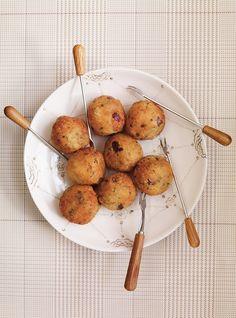 Vegetarian Meatballs with quinoa and chickpeas. Added ricotta and no-salt organic seasoning.