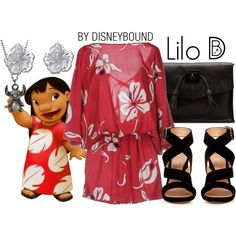 Lilo by leslieakay on Polyvore featuring Attic and Barn, Gianvito Rossi, Dr. Martens, Disney, disney, disneybound and disneycharacter