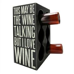 Primitives by Kathy Sign Box Wine Rack