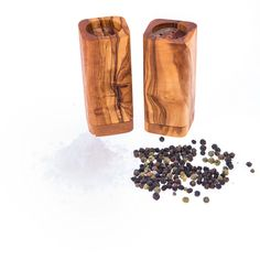 Olive Wood Salt & Pepper Shakers Set of 2 - Kitchen Accessories Dishwasher Soap, Fabric Gift Bags, Handmade Kitchens, Salt Pepper Shakers, Handmade Wooden, Kitchen Accessories, Tree Branches, Utensils, Decorative Items