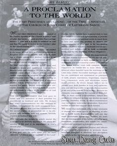 Proclamation to the World on the Family Overlay Tutorial - makes a great wedding gift using the couple's invitation photo