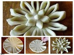 Pattern for Mathri folding Pastry Design, Bread Shaping, Bread Art, Braided Bread, Pastry Art, Bread And Pastries, Food Decoration, Bread Rolls, Baking Tips