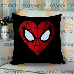 Sr6-spiderman Hearts Deadpool In Valentine Cushion Pillow Case