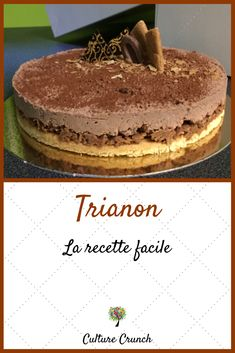 Trianon: la recette facile - Something Sweet - Trianon: la recette facile - Something Sweet Cake Recipes, Dessert Recipes, Number Cakes, Coco, Chocolate Cake, Cheesecake, Food And Drink, Easy Meals, Sweets