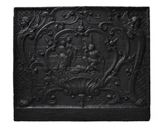 """Hercules spinning at Omphale's feet,"" antique fireback - Marcmaison.com"