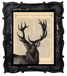 Hey, I found this really awesome Etsy listing at https://www.etsy.com/listing/85140874/black-deer-art-print-deer-art-stag-art