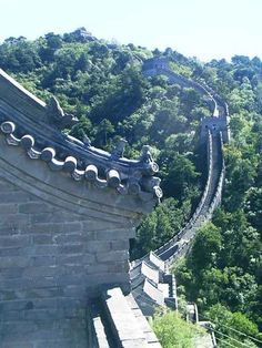 """The Great Wall wraping around the mountains."" #Shanghai, #China photo of ""#TheGreatWall"" by IgoUgo travel photographer, onesundaymorning."