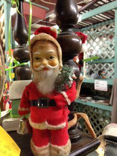 Antique Christmas Santa Claus at Scranberry Coop Antique Christmas, Antique Stores, Dog Friends, Fleas, Your Dog, Artisan, Santa, Christmas Ornaments, Antiques