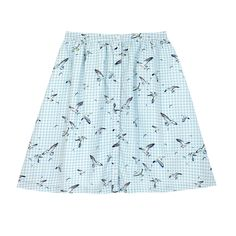 Get set for summer with this pretty skirt in seaside-inspired Sea Birds cotton sateen. The skirt has a full shape with pretty pleats, a fitted waist and delicate buttons down the front. Cath Kidston, Workwear, Ballet Skirt, Birds, Sewing, Pretty, Check, Cotton, Style
