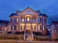 Love the stone work and the big front porch!