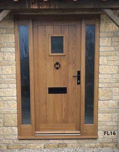 Upvc Oak Colour Composite Front Door Upvc