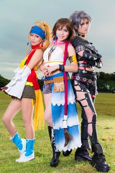 Yuna, Paine, & Rikku Cosplay: Final Fantasy X-2