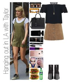 """""""Hanging out in LA with Taylor"""" by narryismybae ❤ liked on Polyvore featuring rag & bone, Topshop, Casetify, MAC Cosmetics, Lancôme, Narciso Rodriguez, Kat Von D, Smashbox and Yves Saint Laurent"""