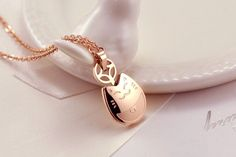 Fashion Lucky Rose Gold Color Totoro Necklace Animal Pendant Cute Meow Stainless Steel Cat Necklace For Women Jewelry Bijoux Cat Necklace, Pendant Necklace, Rose Gold Pendant, Jewelry Website, Necklace Online, Rose Gold Color, Rose Gold Plates, Women Jewelry, Jewels