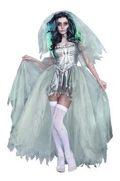 Zombie Princess Cinderella Ladies Adult Dead Halloween Costume Fancy Dress