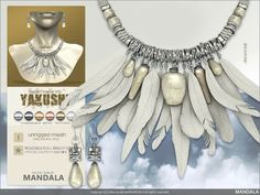 [MANDALA]YAKUSHI Jewelry set WHITE