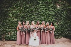 Dusty rose, a sublimely autumnal shade of pink. | 21 Unexpectedly Perfect Fall Bridesmaid Dress Colors