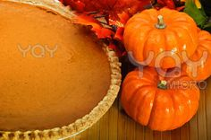 Why not make a pumpkin pie and really enjoy autumn!       Image from our photographer lobzik.          Pumpkin pie with autumn leaves and pumpkins.