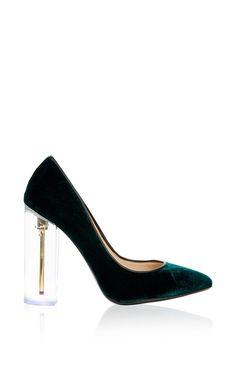Ella Emerald Pump by Richardo Braqo for Preorder on Moda Operandi
