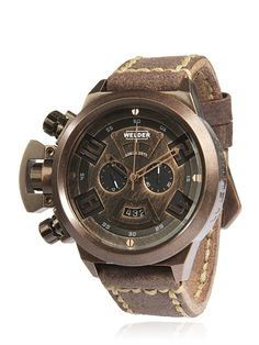 WELDER - K-24 VINTAGE CHRONOGRAPH WATCH - LUISAVIAROMA - LUXURY SHOPPING WORLDWIDE SHIPPING - FLORENCE