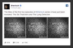 BBC Reveals #Sherlock Season 4 Episode Titles. Sherlock Holmes Costume, The Lying Detective, Sherlock Season, Series 4, Season 4, Bbc