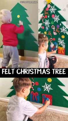 Felt Christmas Tree FELT CHRISTMAS TREE Christmas is coming The kids can decorate it over and over again Christmas activity for kids Xmas kids activities Fun craft art project to make Toddler activity Etsy find affiliate link The Effective Pictures We Of Christmas Tree Kit, Cardboard Christmas Tree, Christmas Is Coming, Kids Christmas, Christmas Morning, Xmas Tree, Christmas Christmas, Christmas Tree Decorations For Kids, Christmas Wishes