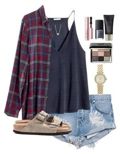 """my school's student section>>"" by daniellekenz ❤ liked on Polyvore featuring One Teaspoon, H&M, Madewell, Michael Kors, Grace Lee Designs, Bobbi Brown Cosmetics, Laura Mercier, Too Faced Cosmetics, NARS Cosmetics and Birkenstock"