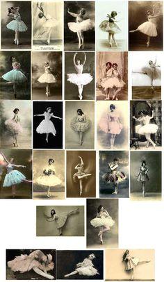 Vintage Ballerina Image Download Contents