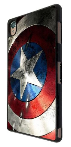 SONY XPERIA Z3 Super Hero Captain America case Back Cover-black
