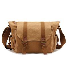 #Mens Canvas Camera #Messenger Bag Water Resistant