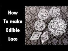 How to make edible lace with 3 ingredients. - YouTube